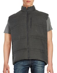 Black Brown Down Puffer Vest Grey