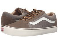 Vans Old Skool Lite Vintage Walnut Classic White Men's Skate Shoes Brown