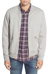 Gant Rugger 'The Quilter' Quilted Fleece Full Zip Sweater Grey