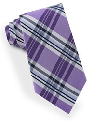 Lord And Taylor James Plaid Tie Purple