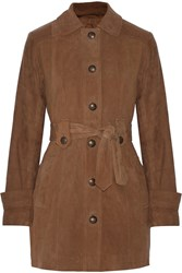 W118 By Walter Baker Desi Suede Trench Coat Brown