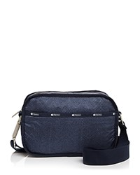 Le Sport Sac Lesportsac Camera Bag Crossbody Herringbone Blue