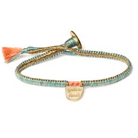 The Brave Collection Cobra Stitch With Charm Bracelet Turquoise Without Limits