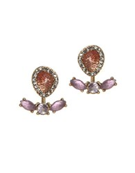 Lonna And Lilly Float Post Back Earrings Purple