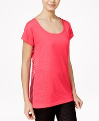 Material Girl Juniors' Mesh Back T Shirt Only At Macy's Pink