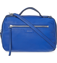 Karen Millen Sporty Leather Large Satchel Blue