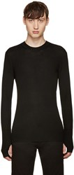 Blk Dnm Black Ribbed 37 Pullover