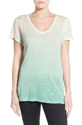 Women's Two By Vince Camuto Dip Dye Linen Tee Ocean Wave