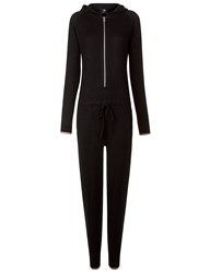 Pepper And Mayne Black Cashmere Hooded Jumpsuit