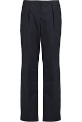 Acne Studios Eswyn Cotton Poplin Wide Leg Pants Blue