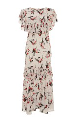 Marni Floral Printed Dress Ivory
