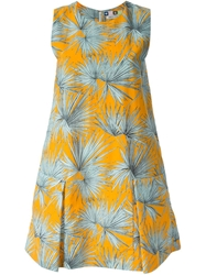 Msgm Palm Tree Print Dress