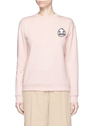 Etre Cecile 'Starry Eye' Embroidery Patch Cotton Sweatshirt Pink