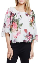 Vince Camuto 'Rose Bouquet' Bell Sleeve Blouse Antique White