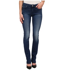 7 For All Mankind Kimmie Straight Leg In Slim Illusion Luxe Medium Heritage Slim Illusion Luxe Medium Heritage Women's Jeans Blue