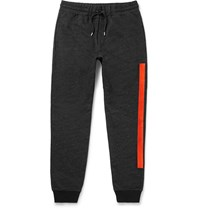 Mcq By Alexander Mcqueen Slim Fit Embroidered Loopback Cotton Blend Jersey Sweatpants Black