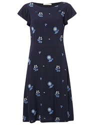 White Stuff Orient Flower Dress Oceania Blue