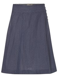 White Stuff Bonded Reversible Skirt Moon Blue