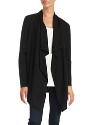 Lord And Taylor Flyaway Cardigan Black