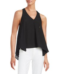 Guess Chain Accented Asymmetrical Tank Top Black