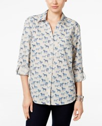 Styleandco. Style Co. Horse Print Shirt Only At Macy's Watch Me Neigh