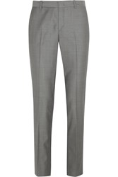 Joseph Kong Wool Twill Slim Leg Pants Gray