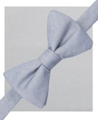 Alfani Spectrum Seasonal Solid Pre Tied Bow Tie And Pocket Square Set Only At Macy's Charcoal