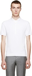 Thom Browne White Cropped Collar Polo