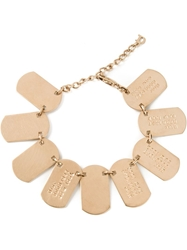 Christian Dior Vintage Dog Tag Bracelet Metallic