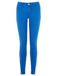 Oasis Jade Stretch Skinny Coloured Crop Jeans Mid Blue