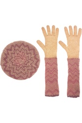 Missoni Mohair Blend Beret And Gloves Set