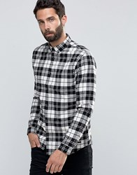 Only And Sons Flannel Check Shirt White