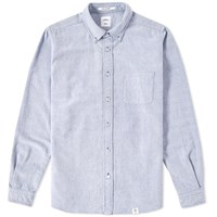 Bedwin And The Heartbreakers Brian Button Down Oxford Shirt Blue