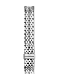 16Mm Serein Stainless Steel Diamond 7 Link Taper Bracelet Michele