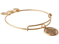 Alex And Ani Celtic Knot Charm Bangle Rafaelian Gold Finish Bracelet