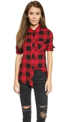 Rails Hunter Button Down Shirt Black Red Check