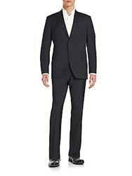 Saks Fifth Avenue Slim Fit Wool Suit Charcoal