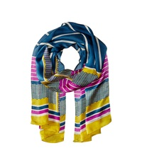 Vince Camuto Retro Geo Antique Moss Scarves Yellow