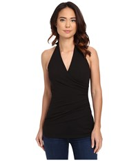 Susana Monaco Wrap Halter Top Black 1 Women's Sleeveless