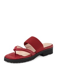 Taryn Rose Tomm Double Strap Thong Sandal Red