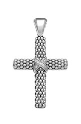Lagos Women's 'Caviar' Diamond Cross Pendant