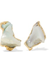 Dara Ettinger Gold Plated Opal Earrings