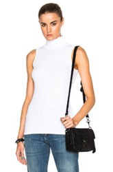 Rosetta Getty Sleeveless Turtleneck Tee In White