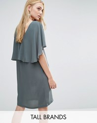 Y.A.S Tall Naomi Dress With Ruffle Detail Grey