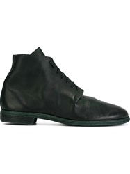 Guidi Lace Up Ankle Boots Green