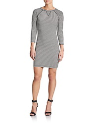 French Connection Licorice Stripe Dress Summer White