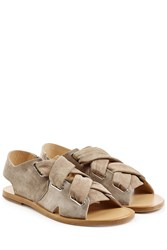 Rag And Bone Rag And Bone Stretch Suede Sandals Grey