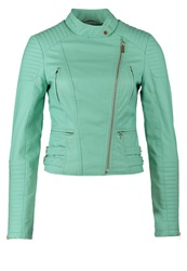 Morgan Faux Leather Jacket Turquoise