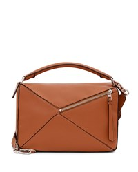 Loewe Small Leather Puzzle Bag Tan