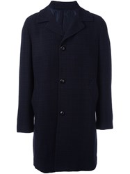 Massimo Piombo Mp Buttoned Single Breasted Coat Blue